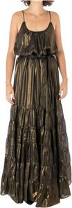 Brązowa sukienka Mes Demoiselles maxi na ramiączkach