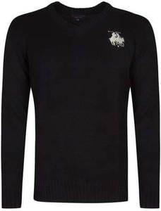 Czarny sweter U.S. Polo z dzianiny