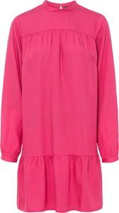 Różowa sukienka bonprix z długim rękawem w stylu casual mini