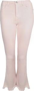 """Różowe spodnie Pinko Spodnie """"pollon"""" w stylu retro"""