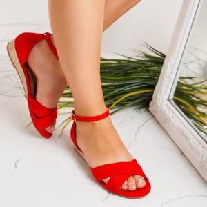 Czerwone sandały Royalfashion.pl