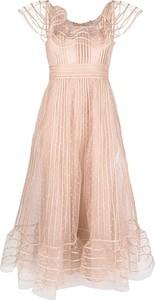 Różowa sukienka Red Valentino bez rękawów z tiulu mini