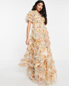 Sukienka Needle & Thread z krótkim rękawem hiszpanka