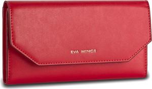 Czerwony portfel eva minge bez wzorów