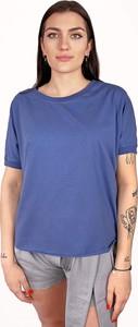 Niebieska bluzka Byinsomnia z bawełny