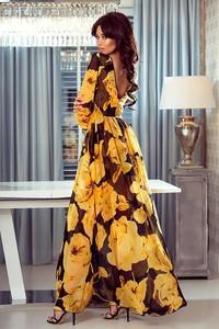3c1b5fe24b Sukienka Emo Sukienki z długim rękawem maxi z szyfonu