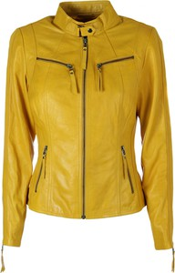 Żółta kurtka Butterfly Copenhagen krótka ze skóry