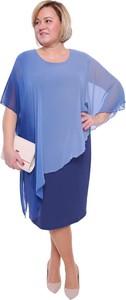 313f5d304f Sukienka modneduzerozmiary.pl z szyfonu dla puszystych z długim rękawem