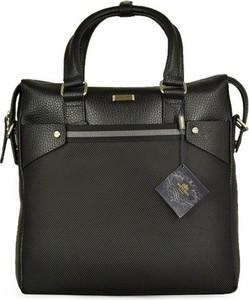 Czarna torebka Wittchen w stylu glamour z breloczkiem