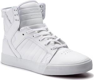 Buty sportowe Supra ze skóry sznurowane w sportowym stylu
