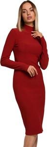 Sukienka Made Of Emotion midi z długim rękawem z golfem