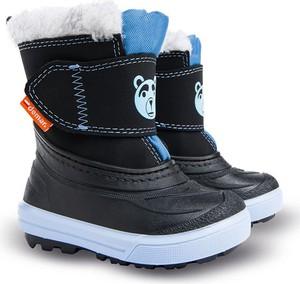 Czarne buty dziecięce zimowe Demar
