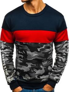 Granatowa bluza Denley z bawełny w młodzieżowym stylu