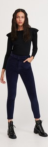 Granatowe spodnie Reserved ze sztruksu