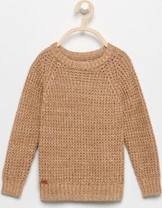 Brązowy sweter Reserved z bawełny