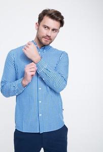 Niebieska koszula Big Star w stylu casual z kołnierzykiem button down