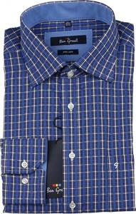 Niebieska koszula Ben Green z bawełny z długim rękawem