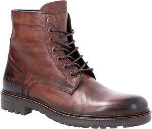 Buty zimowe Guess ze skóry sznurowane