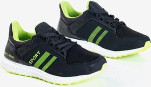 Granatowe buty sportowe Royalfashion.pl sznurowane