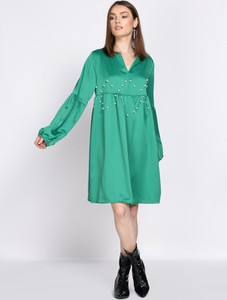 Born2be zielona sukienka saving grace