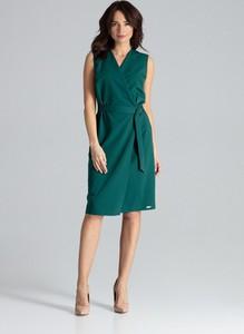 Sukienka LENITIF z dekoltem w kształcie litery v