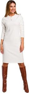 Sukienka Style z długim rękawem w stylu casual z okrągłym dekoltem