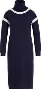 Granatowa sukienka Pennyblack z długim rękawem z golfem mini
