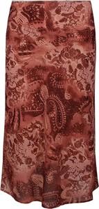 Brązowa spódnica Fokus midi