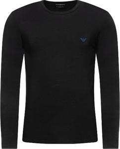 Czarny t-shirt Armani Jeans z długim rękawem