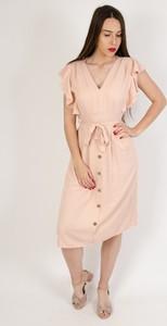 Różowa sukienka Olika w stylu casual