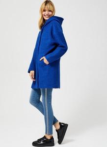 Niebieska kurtka Moodo z bawełny krótka w stylu casual