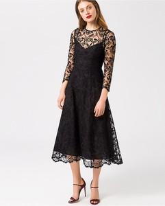 Sukienka Ivy & Oak rozkloszowana z długim rękawem z okrągłym dekoltem