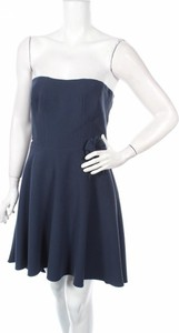 Niebieska sukienka Why Not mini bez rękawów