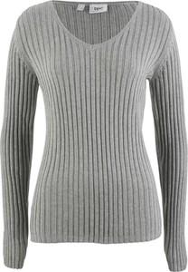 Szary sweter bonprix bpc bonprix collection bez wzorów