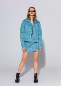 Niebieska kurtka LOCAL HEROES krótka z bawełny