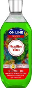 On Line, Senses, olejkowy żel pod prysznic, Brasilian Vibes, 500 ml