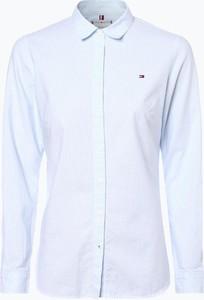 ebee34879cea16 biała koszula tommy hilfiger damska. Niebieska koszula Tommy Hilfiger z  kołnierzykiem