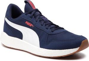 Buty sportowe Puma ze skóry ekologicznej sznurowane w sportowym stylu
