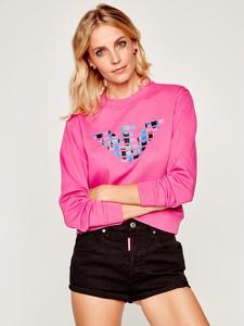 Bluza Emporio Armani krótka w młodzieżowym stylu