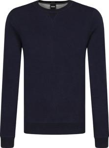Granatowy sweter Boss