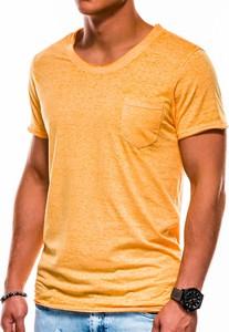 Pomarańczowy t-shirt Ombre z krótkim rękawem