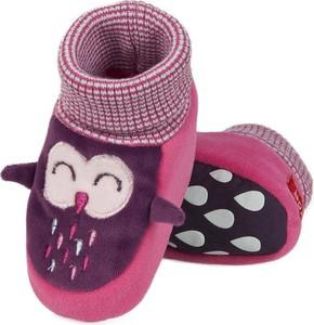 Fioletowe buciki niemowlęce Soxo dla dziewczynek
