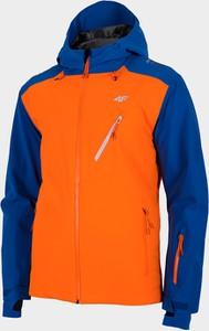 Zielona kurtka 4F krótka w sportowym stylu