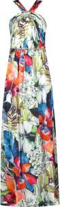 Sukienka Guess by Marciano z jedwabiu maxi bez rękawów