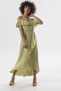 Sukienka born2be z krótkim rękawem maxi