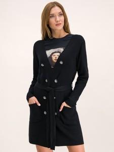 Czarna sukienka Silvian Heach mini z dekoltem w kształcie litery v