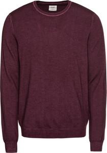 Fioletowy sweter Olymp z wełny w stylu casual