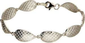 Polcarat Design Srebrna rodowana bransoletka L 1918