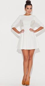 Sukienka Katrus mini z bawełny z długim rękawem