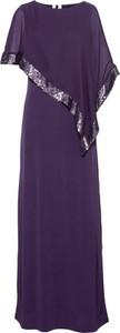 Fioletowa sukienka bonprix BODYFLIRT boutique z krótkim rękawem maxi